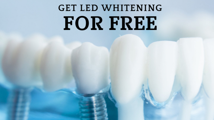 Get your implant at Diente Sano dental clinic and receive a complementary LED professional teeth whitening.